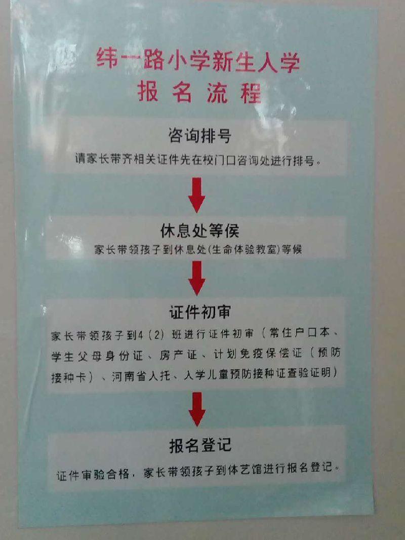 2017郑州金水区纬一路小学幼升小划片及报名指南