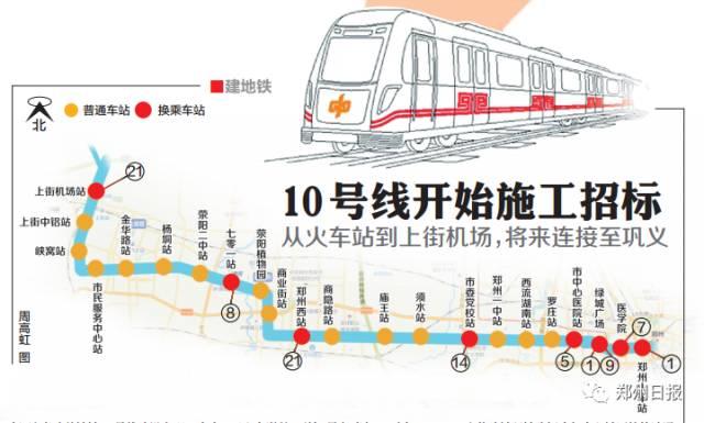 郑州地铁10号线最新信息(持续更新)
